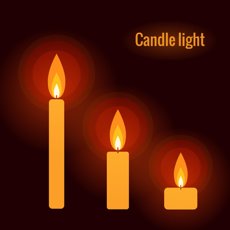 burning candle: Burning candle on the dark background made in vector vector Illustration