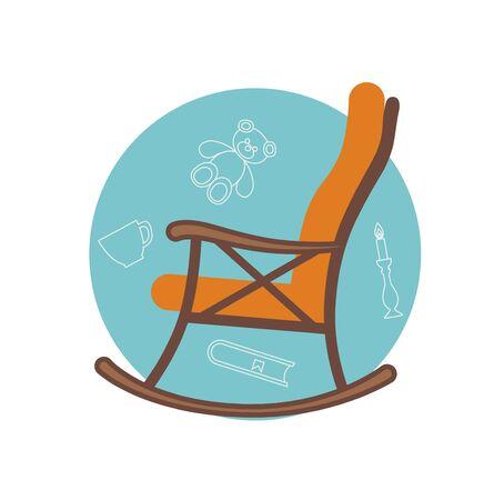 Flache Darstellung Stuhl Schaukel gemacht in Vektor für Ihr Design. Standard-Bild - 51244825
