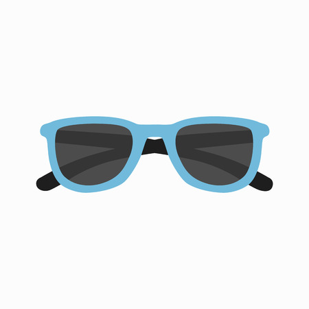 sun glasses: Sun glasses vector illustration. Sun glasses  icon isolated. Sun glasses summer symbol. Sun glasses for traveling design. Summer time vacation Sun glasses isolated icon