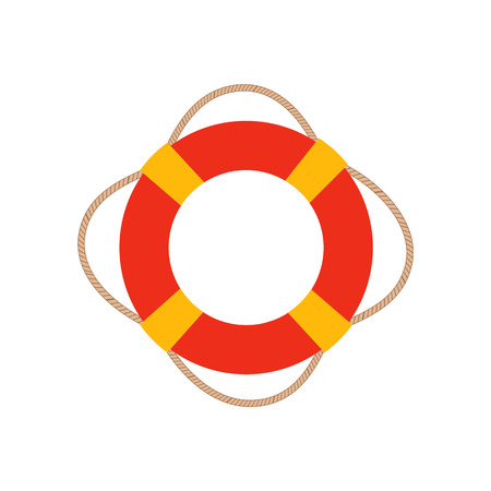 ring buoy: Ring life buoy vector illustration. Ring life buoy icon isolated. Ring life buoy summer symbol. Ring life buoy for traveling design. Summer time vacation Ring life buoy icon isolated