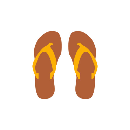 beach slippers: Beach slippers icon vector illustration Beach slippers icon isolated. Beach slippers summer symbol. Beach slippers for traveling design. Summer time vacation Beach slippers icon isolated