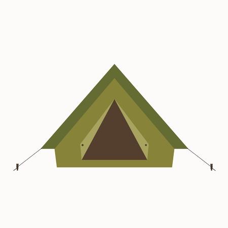 icono de la tienda del campo. Aislado acampar vector icono de tienda de campaña. equipo de viaje campamento tienda turismo ilustración para explorar diseño que acampa