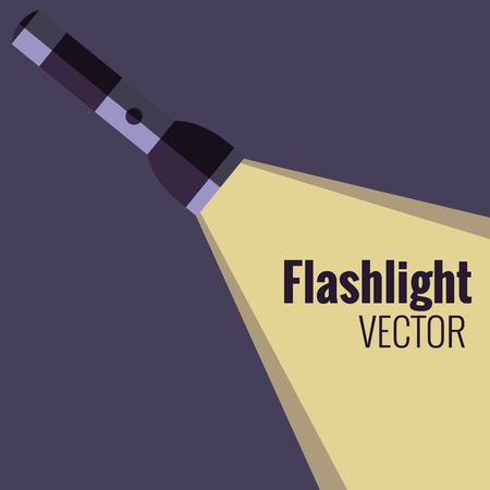 pocket flashlight: Flashlight  icon on night background isolated. Vector flat flashlight illustration. Concept of flat flashlight in dark. Colorful flashlight icon for your design. Pocket flashlight icon Illustration