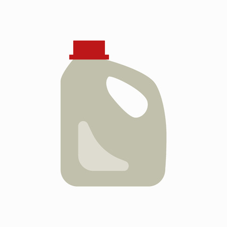 sorting: Plastic canister waste flat concept.  Vector illustration of sorting plastic canister  waste. Icon of plastic  canister waste for garbage disposal design.  Plastic canister waste sorting management .