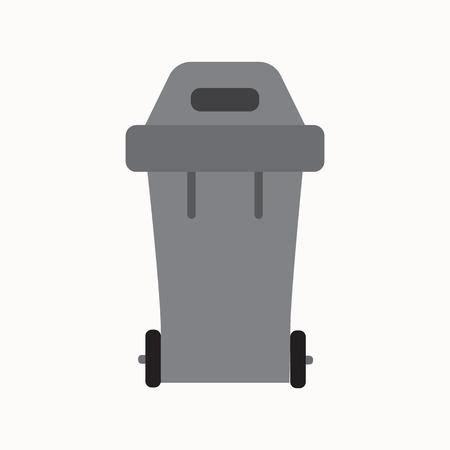Abfall Mülltonne isoliert Vektor sortieren. Abfallwirtschaft und Recycling-Konzept mit Abfallbehälter isoliert. Mülltrennung Mülleimer isoliert. Sortierung Verwertung von Abfällen kann. Grau Mülltonne Vektor. Vektorgrafik