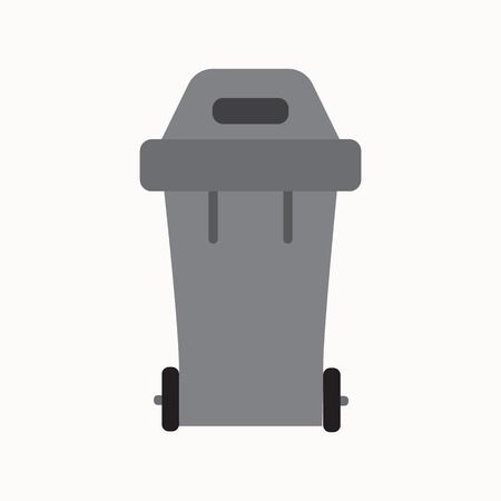 wastebasket: Waste sorting garbage bin isolated vector. Waste management and recycle concept with waste bin isolated. Separation of waste trash bin isolated. Sorting recycling waste can. Gray garbage can vector.