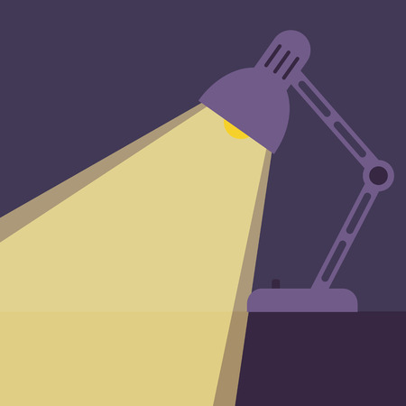 flexible business: Desk lamp light icon. Illustration