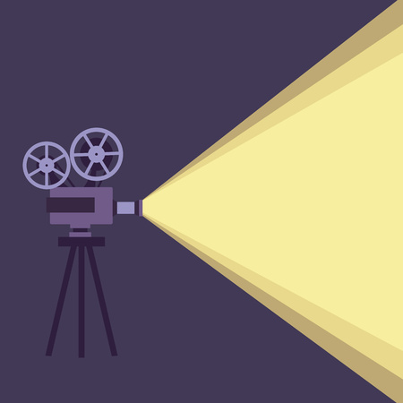 movie projector: Movie projector vector illustration. Movie projector vector concept. Movie projector background cinema illustration. Movie projector vintage poster. Vector movie projector background for your design. Illustration