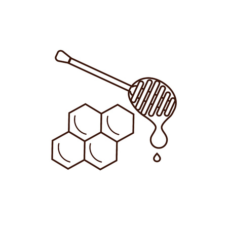 beeswax: Honey product icon. Honey product vector symbol. Outline style honey product icon. Mead product illustration. Vector illustration of honey product icon for your design Illustration