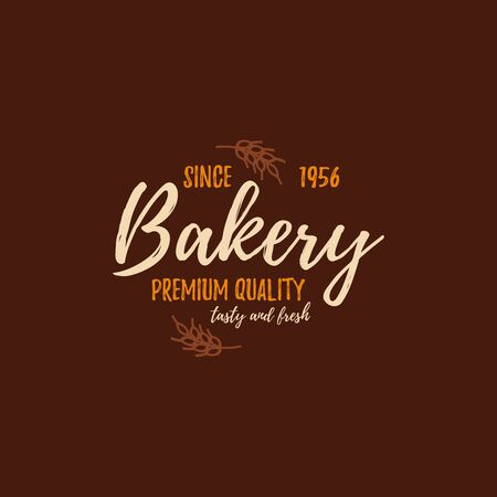 Set of bakery badges with bread, pastry icons and design elements. Vector labels and bakery logo for signage, branding, advertisement. Template of bakery logo and badges for fresh baked goods Illustration