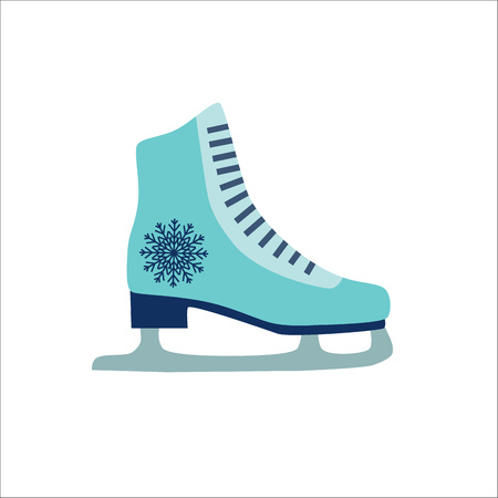 Colorful skate vector icon isolated on wight background. Illustration of winter skate icon Illustration