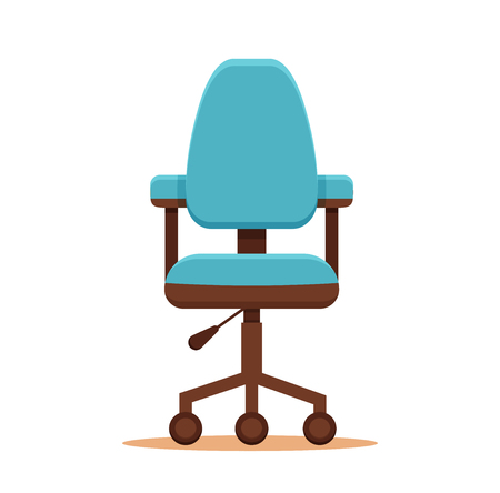 unoccupied: Office chair icon colorful flat concept. Vector illustration of business chair icon. Corporate team vacancy design vector concept. Illustration