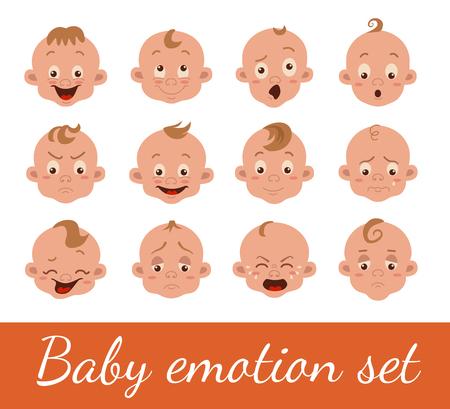 Baby facial expression Illusztráció