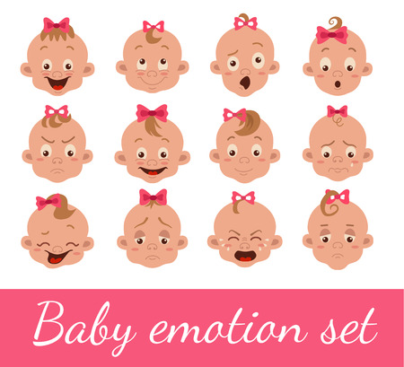 Baby facial expression Illustration