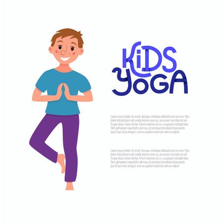 poses: Yoga kids poses Illustration