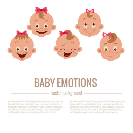 baby: Baby facial expression Illustration