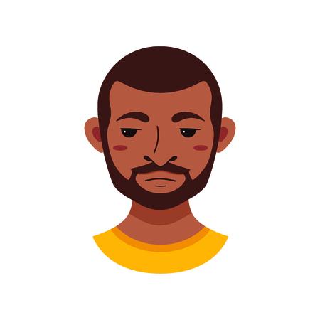 facial expression: American African men facial expression
