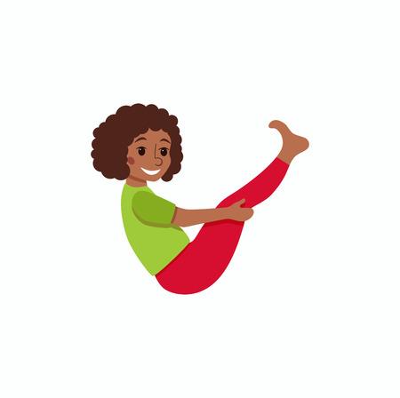 joga: kids exercise poses and yoga asana set Illustration