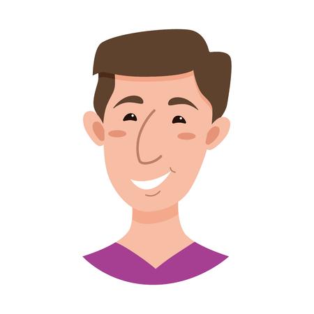 express positivity: Male emoji cartoon character.