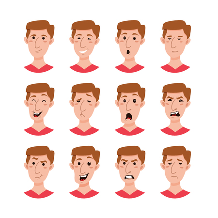 Male emoji cartoon character.