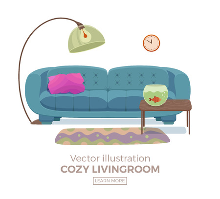 living room wall: Living room cozy interior