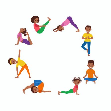 joga: Yoga kids poses set