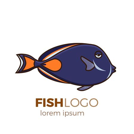 Cute fish illustration icon. Illustration