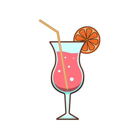 Alcohol drinks and cocktails icon in filled outline design style. Cocktail glass with drink icons for menu, web and graphic design. Vector illustration. Illustration