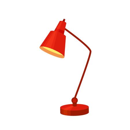 Desk lamp set modern cartoon colorful vector illustration.