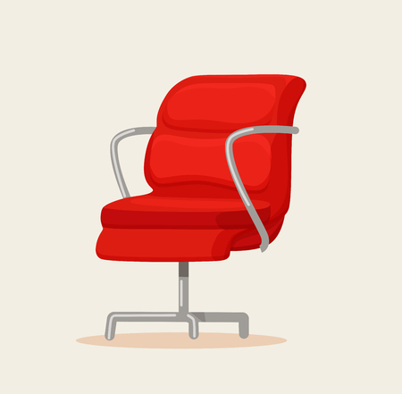 Office chair cartoon vector illustration. Illustration