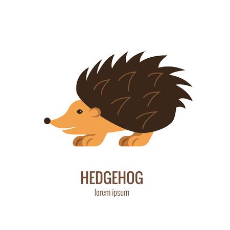 Hedgehog logo isolated colorfull cartoon vector illustration. 矢量图像