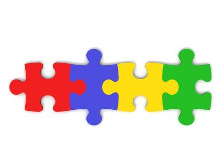 rows: Kleurrijke Jigsaw Pieces Stockfoto