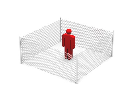 fenced in: Fenced in Stock Photo