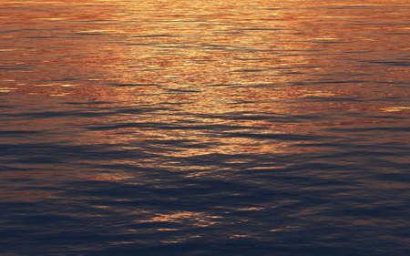 sunset reflection in the sea Stock Photo