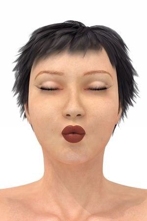 3d render of a female head model