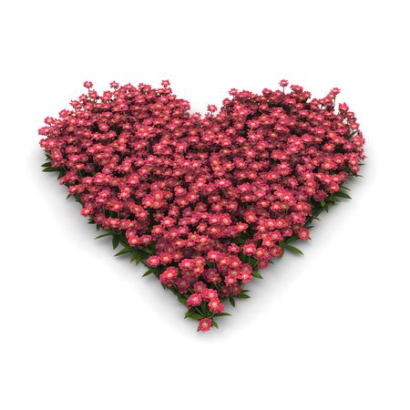 digital render of a pink valentine heart with flowers