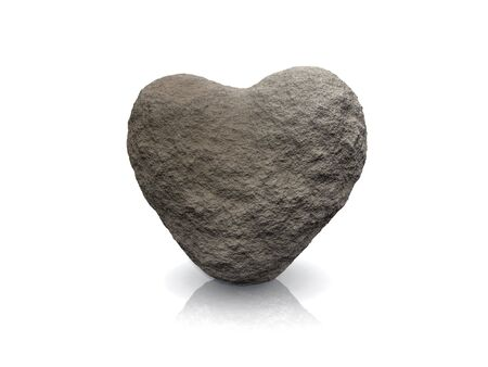 3d render of a heart made of stone Stock Photo