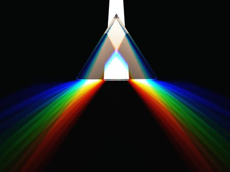 prisma: procesamiento 3d esquem�tica de un prisma  Foto de archivo