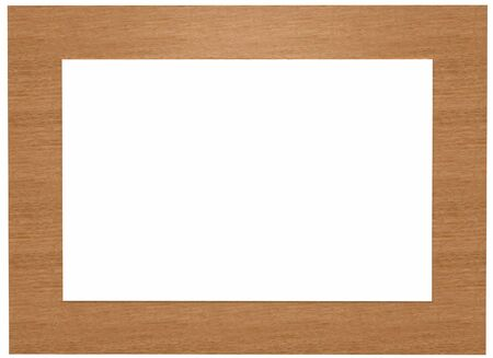 render of a wooden picture frame isolated on white