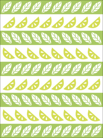 gash: Lime&mint pattern Illustration