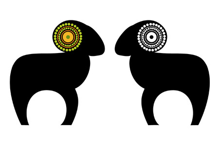 pasen schaap: schapen  Stock Illustratie