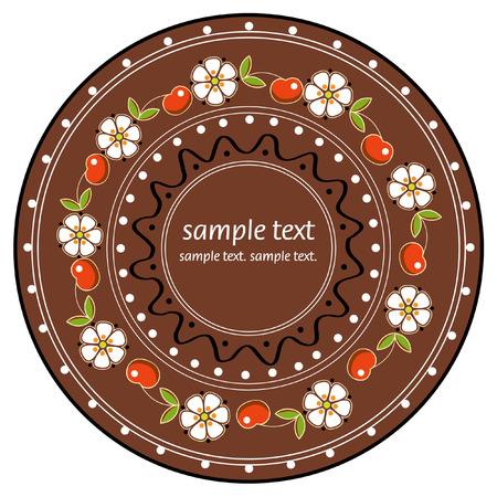 Plate in national style Vector