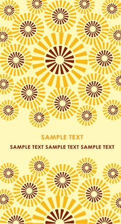 Card with sunflower 向量圖像