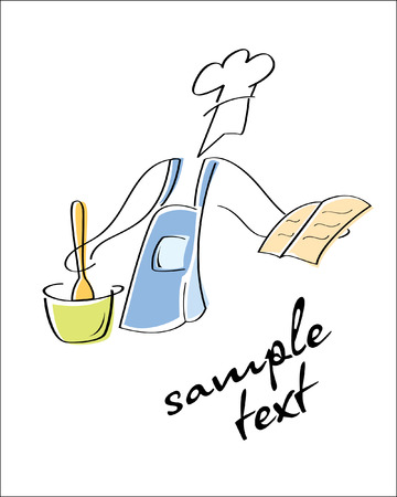 same: Cook. Look through my portfolio to find more images of the same series Illustration
