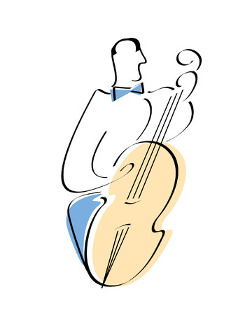 Musician. Look through my portfolio to find more images of the same series Vector
