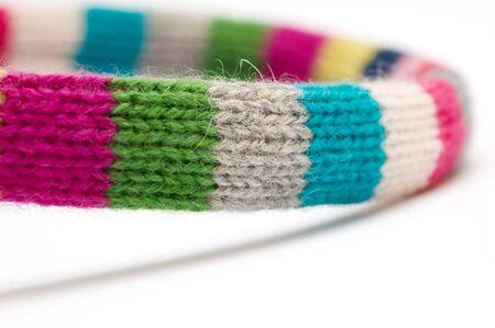 Texture of woolen scarf