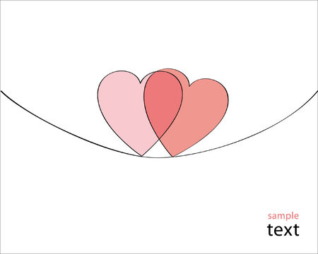 Love. Greeting card Stock Vector - 8609867