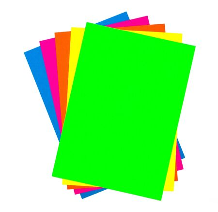 Blank colorful paper sheets photo