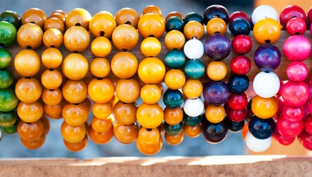 Coloured beads photo