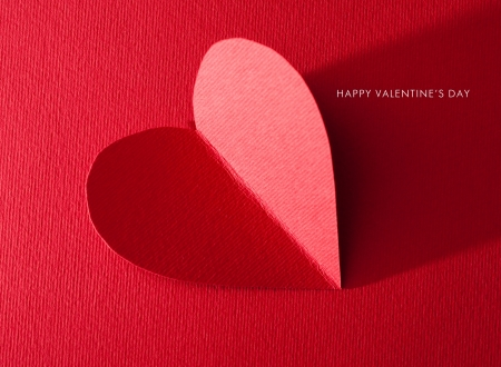 valentine's day: Holiday Card. Heart for Valentines day
